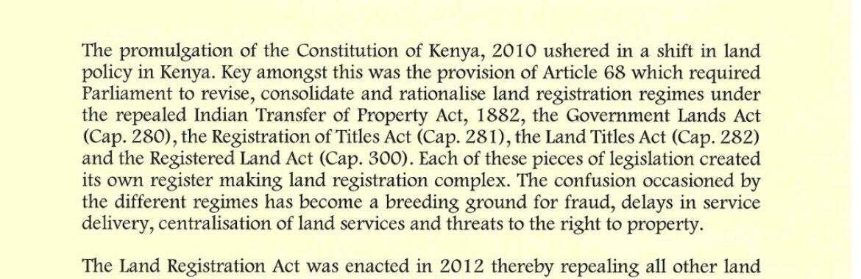 Lands Ministry starts implementation of Registration Act, 2012